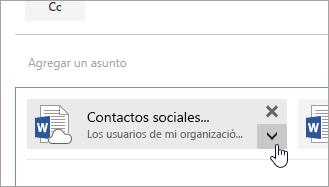 Una captura de pantalla del botón Más acciones.