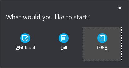 Botón Preguntas y respuestas