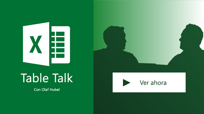 Dos personas hablando; Excel Table Talk