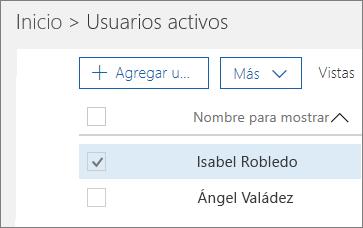 Elegir el usuario que desee bloquear