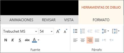 Aplicar formato a texto