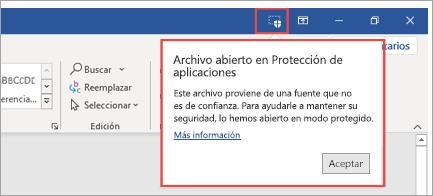 Protección de aplicaciones de la presentación