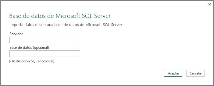 Obtener datos de SQL Server