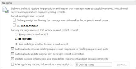 Agregar información de seguimiento a los mensajes.