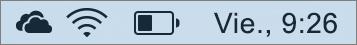 Icono de OneDrive en la bandeja del sistema de Mac