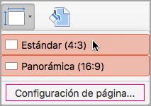 Haga clic en Configurar página.