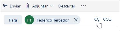 Captura de pantalla de los botones CC y CCO