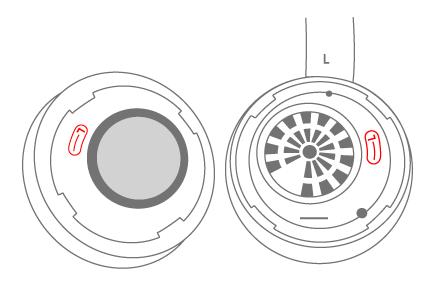 Alinee los símbolos en las orejeras de Surface