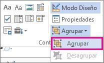 controles para agrupar de modo programador