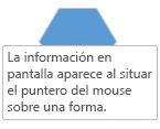 Un Visio ScreenTip aparece cuando se coloca el puntero del mouse sobre una forma.
