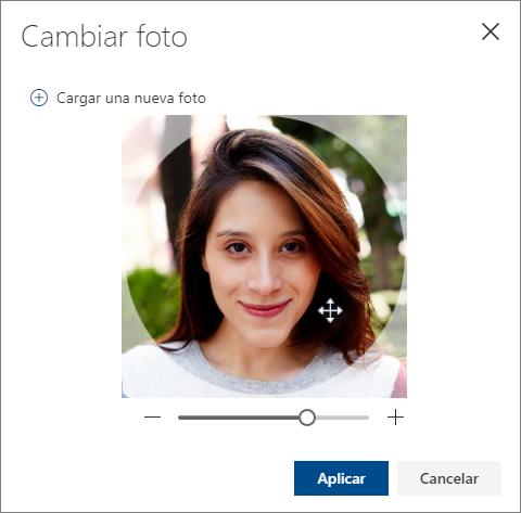 Ajuste la foto y seleccione Aplicar.