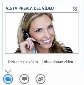 captura de pantalla de las opciones que se muestran al mantener el mouse sobre el botón de vídeo