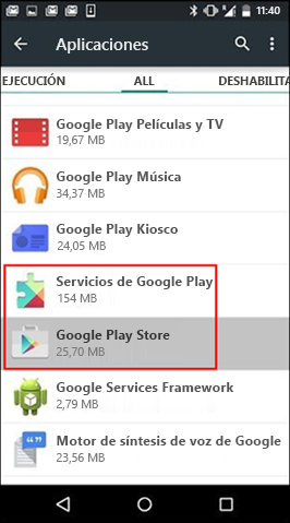 Clear cache from the Google Play Store app