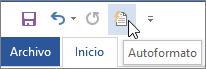 Icono de formato automático