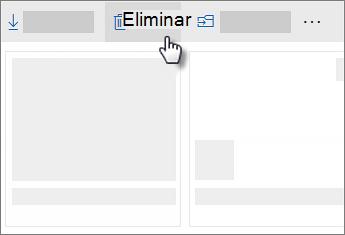 Captura de pantalla de la eliminación de un archivo en OneDrive
