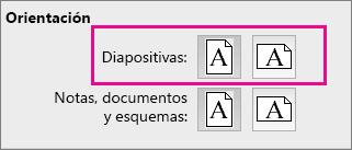 Orientación de página en PPT para Mac