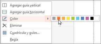 Elegir un color para codificar una guía con colores