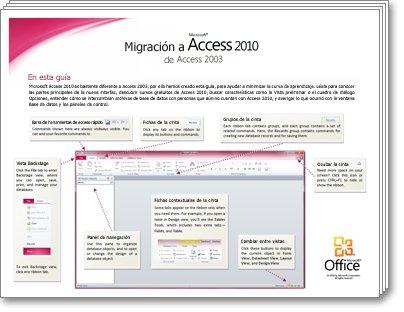 Miniatura de la Guía de migración de Access 2010