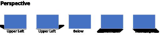 Efectos de perspectiva no admitidos en Visio para la Web.