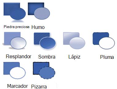 Variantes de tema no admitidas en Visio para la Web.