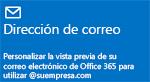 Panel de introducción de administración: Dirección de correo electrónico