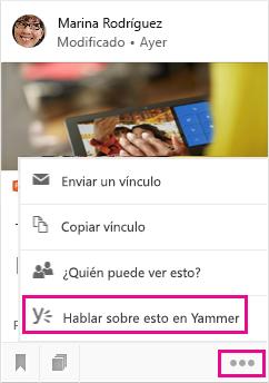 Haga clic para abrir Yammer