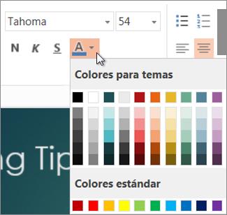 Elegir un color para el texto