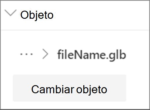 Cambiar la interfaz de usuario del objeto