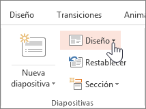 Botón de diseño