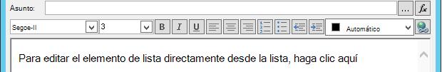 Definir pantalla de mensaje de correo electrónico después de insertar variable