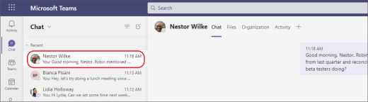 Reanudar chat
