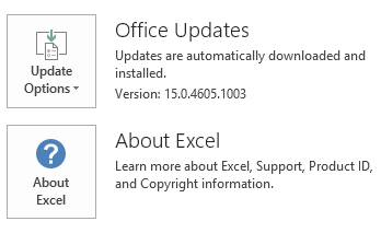 The screenshot for Excel Click To Run