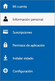 Actualizar su información personal de administrador