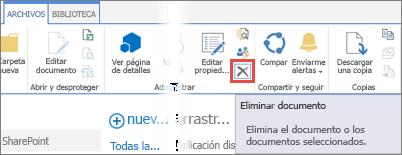 La Eliminación de una aplicación desde la aplicaciones para biblioteca de SharePoint en el Catálogo de aplicaciones