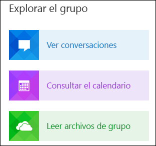 Explorar un grupo en Outlook