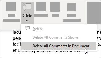 Eliminar todos los comentarios