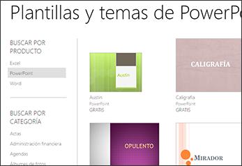 Plantillas y temas en línea de PowerPoint