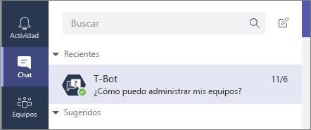 Seleccione el icono de chat para abrir un nuevo chat y escriba allí su pregunta.
