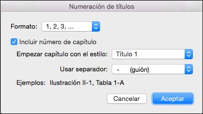 Agregar automáticamente los números de capítulo a los títulos en Word