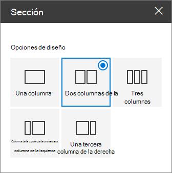 Panel diseño de sección