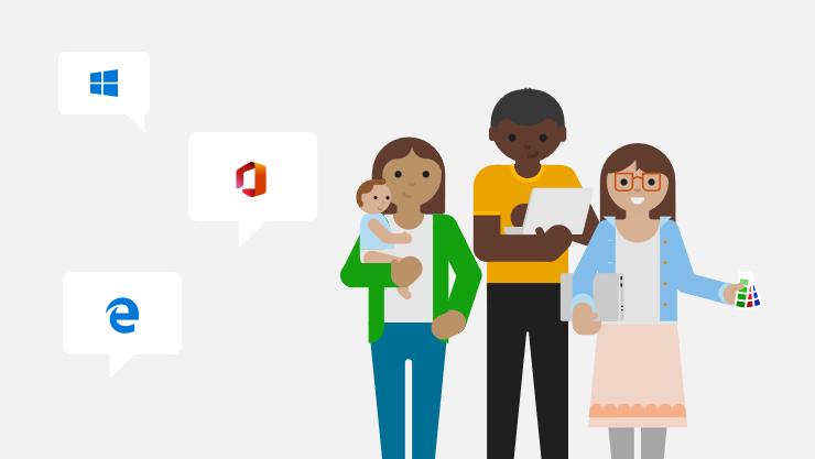 Una ilustración de miembros de la comunidad