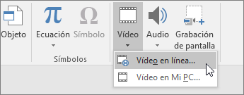 Agregar vídeo a las diapositivas