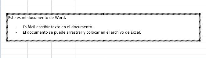 Este objeto incrustado es un documento de Word.