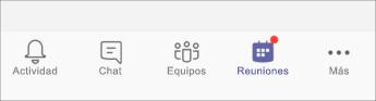 botón reuniones-captura de pantalla para móvil