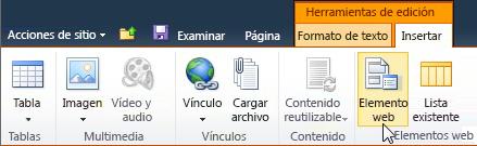 Comando Elemento web
