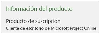 Información de Project para el cliente para equipo de escritorio de Project Online