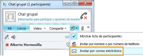 Invitar por correo electrónico