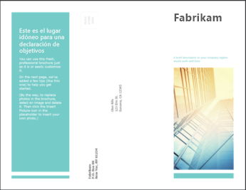 Plantilla de folleto en PowerPoint Online