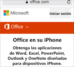 Vaya a office.com