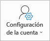 Botón configuración de la cuenta de Outlook